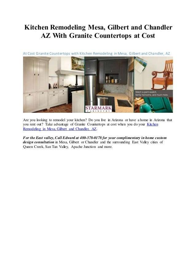 Kitchen Remodeling Mesa, Gilbert And Chandler AZ With Granite Countertops  At Cost