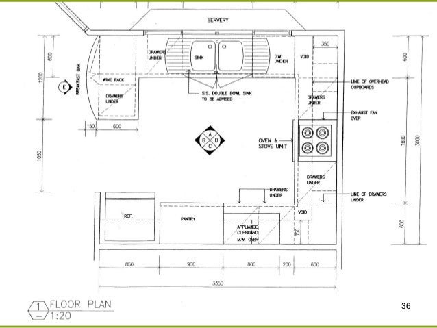 kitchen renovation, electrical drawing