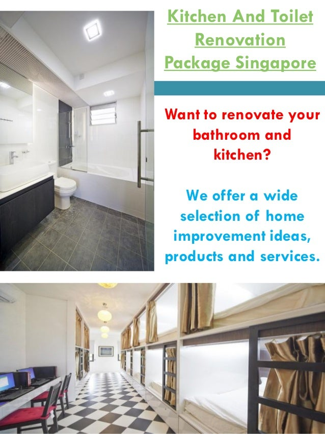 Kitchen and toilet renovation package singapore for Bathroom renovation package