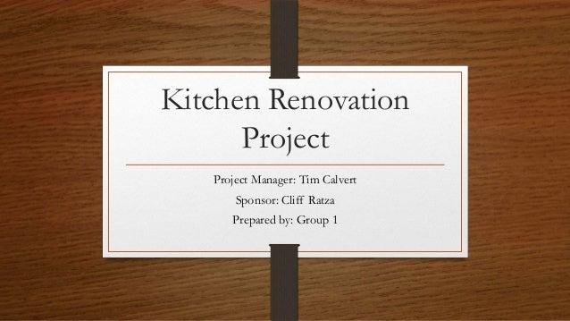 kitchen remodel schedule template