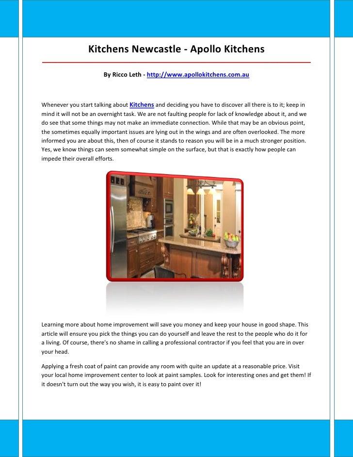 Kitchens Newcastle - Apollo Kitchens_____________________________________________________________________________________ ...