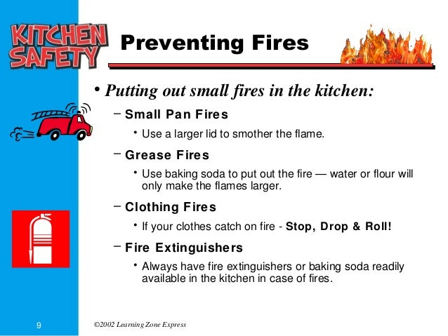 Kitchen safety part 1 powerpoint for 5 kitchen safety hazards