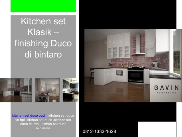 0812 1333 1628 Tsel Kitchen Set Duco Di Bintaro