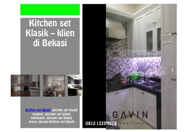 0812 1333 1628 Tsel Kitchen Set Klasik