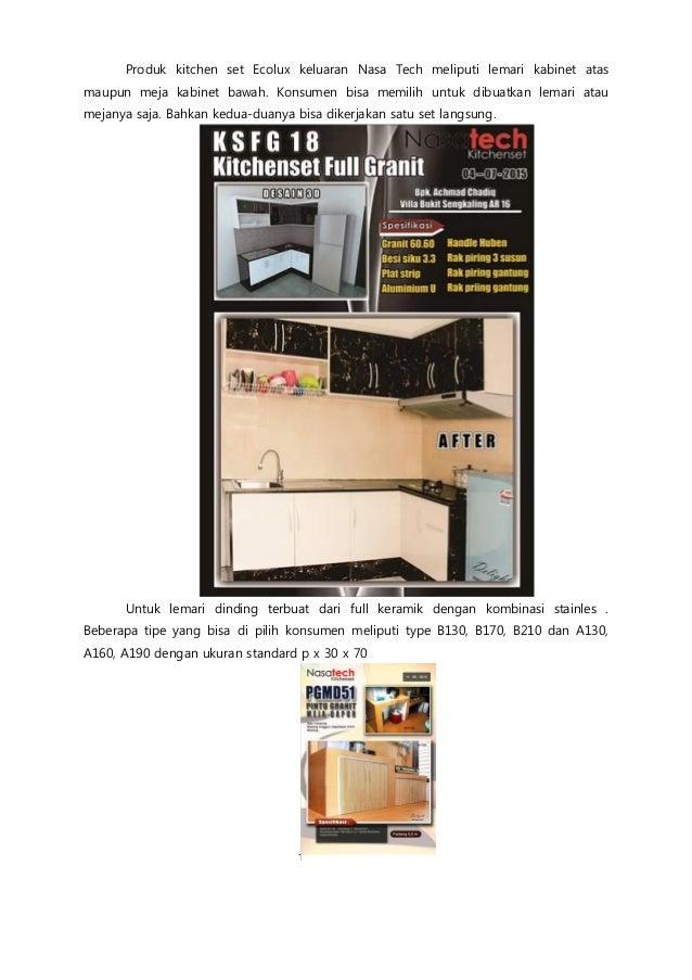 Jual Kitchen Set Surabaya Anti Lembab Tahan Rayap 0878 5599 4300