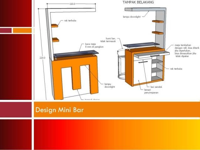 Design kitchen set mini bar for Kitchen set hpl
