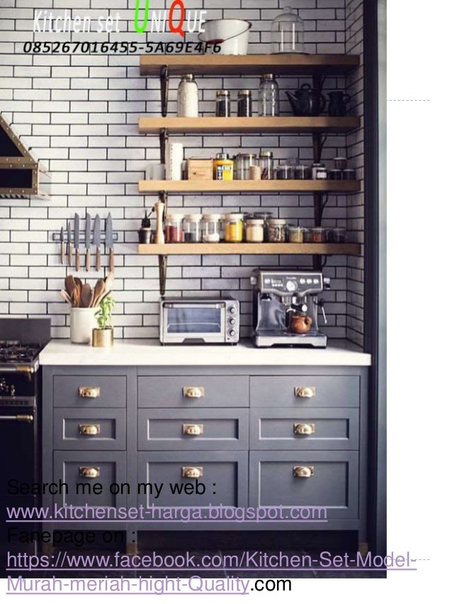 Kitchen Set Minimalis Bentuk L Daftar Harga Kitchen Set Di Malang K