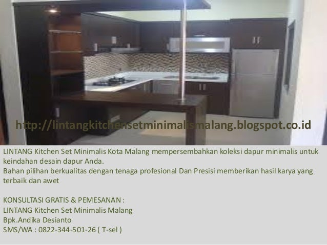 Kitchen Set Minimalis Di Malang Alamat Pembuatan Kitchen Set Murah D