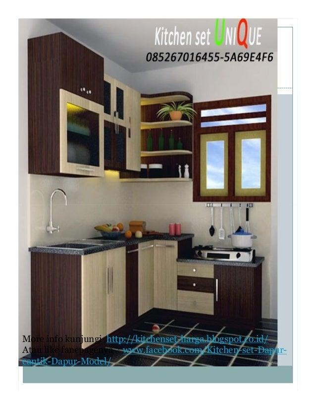 Kitchen set minimalis terbaru 2016 daftar harga kitchen for Daftar harga kitchen set
