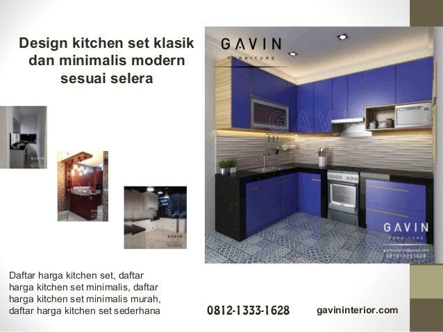 Kitchen Set Untuk Dapur Sempit Model Minimalis