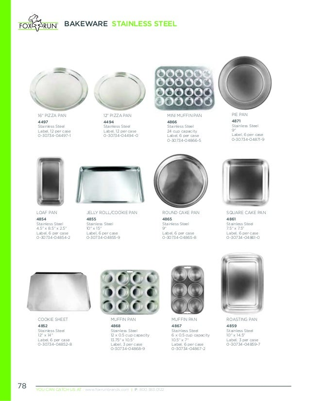Kitchen surplus catalog for Canape bread mold set
