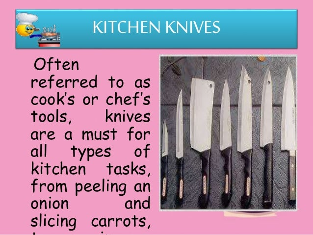 Use And Maintain Kitchen Tools And Equipment