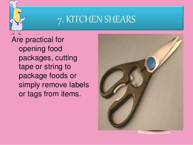 Kitchen Tools And Equipment With Meaning
