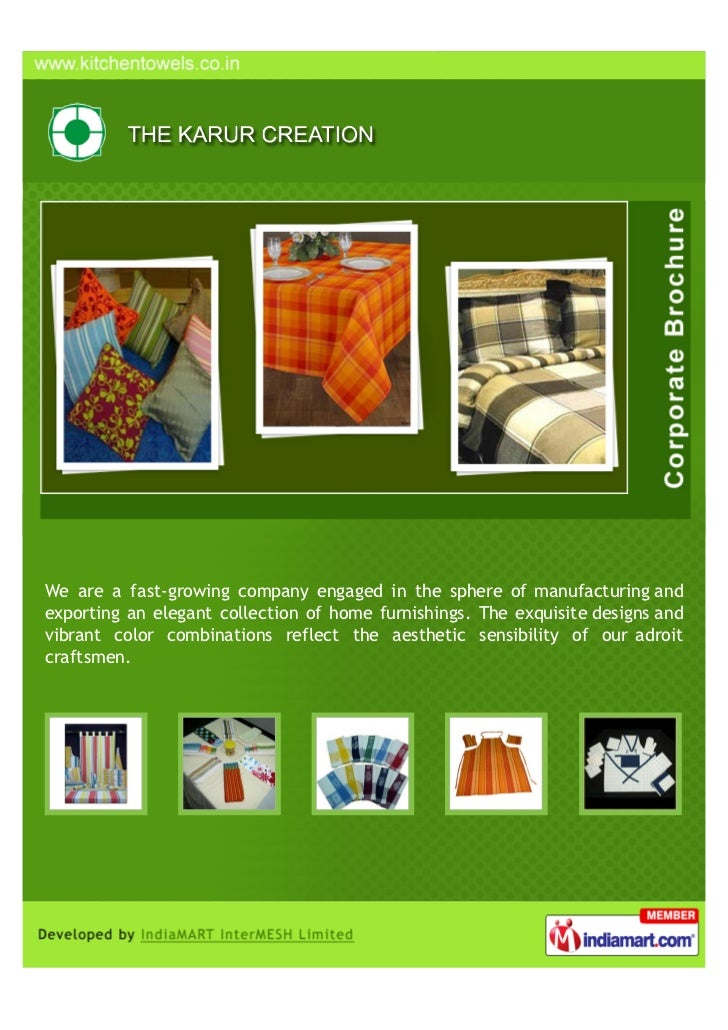 We are a fast-growing company engaged in the sphere of manufacturing andexporting an elegant collection of home furnishing...