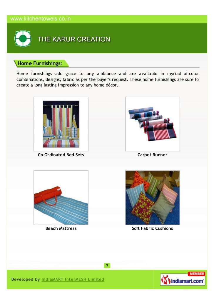 The Karur Creation, Karur, Home furnishings Slide 3