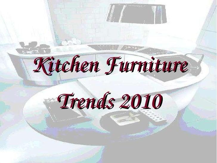 Kitchen Furniture Trends 2010