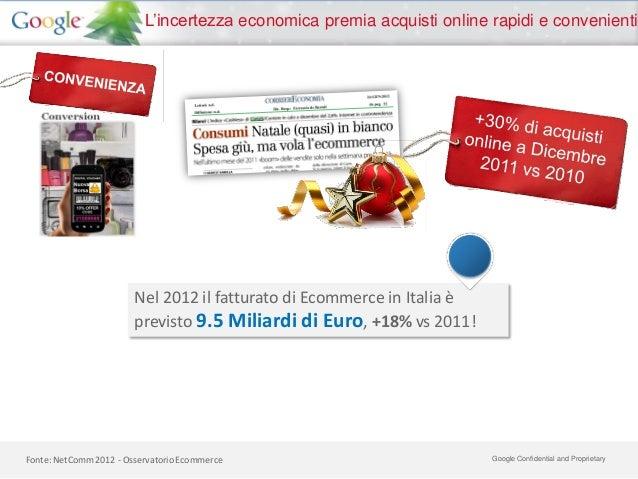 L'incertezza economica premia acquisti online rapidi e convenienti                        Nel 2012 il fatturato di Ecommer...