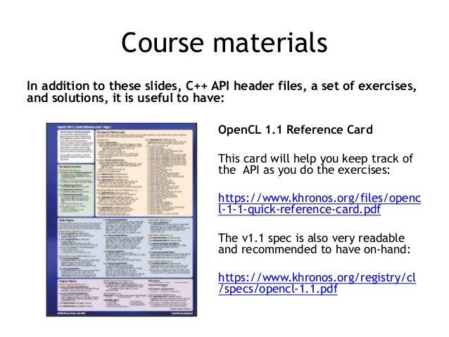 Hands on OpenCL Slide 3