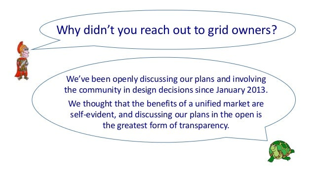 We've been openly discussing our plans and involving the community in design decisions since January 2013. We thought that...