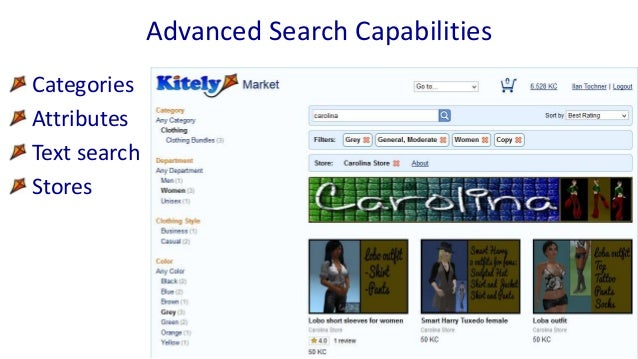 Categories Attributes Text search Stores Advanced Search Capabilities