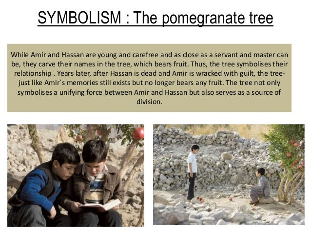 the kite runner pomegranate tree with page numbers