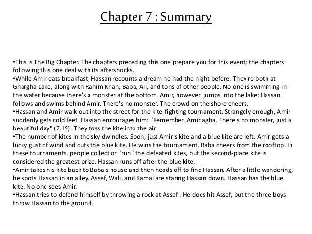 the kite runner summary notes