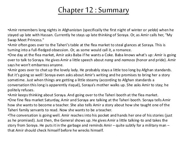 kite runner chapter 12 summary