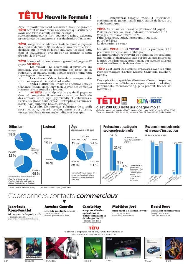 Kit media 2011 Têtu 2éme version - Jean-Louis Roux-Fouillet Slide 2