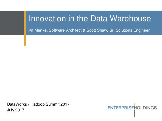 innovation in the enterprise rent a car data warehouse