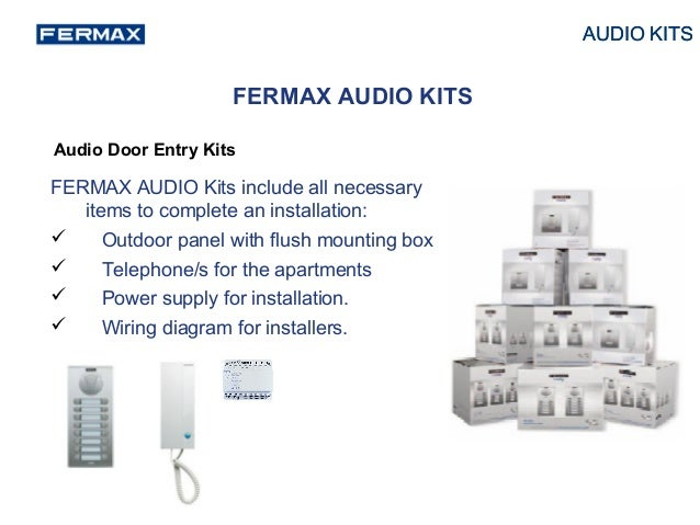 fermax video kit presentation 2014 17 638?cb=1401091918 fermax video kit presentation 2014 fermax intercom wiring diagram at n-0.co