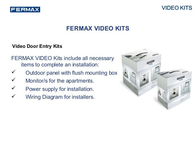 fermax video kit presentation 2014 19 638?cb=1401091918 fermax video kit presentation 2014 fermax intercom wiring diagram at n-0.co