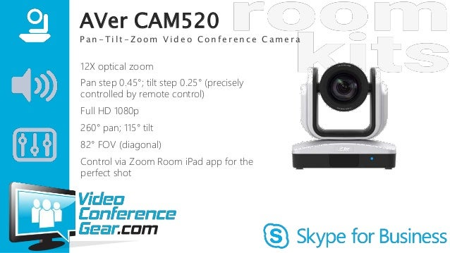 Skype for Business Kits: AVer CAM520 Large Conference Room, Classroom…