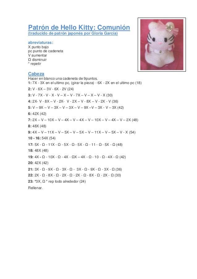 Hello Kitty tejida a crochet (amigurumi) Parte 7: acabados - YouTube | 903x638