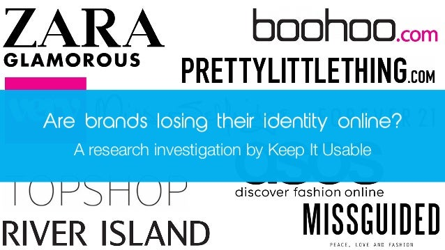 Are brands losing their identity online? A research investigation by Keep It Usable
