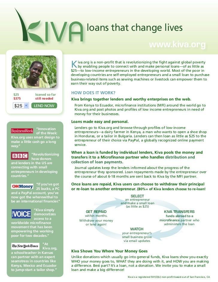 loans that change lives                                                                                            www.kiv...