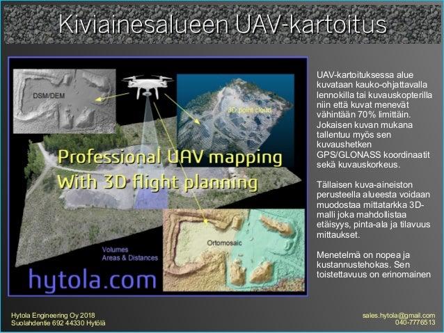 Kiviainesalueen uav kartoitus Slide 2