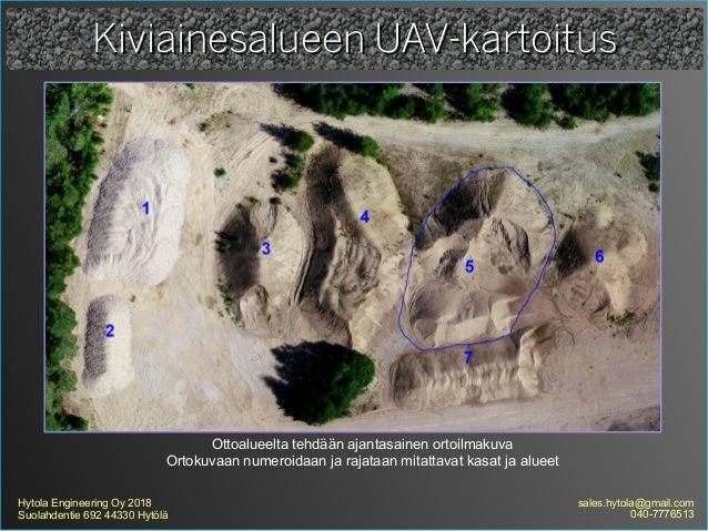 Kiviainesalueen uav kartoitus Slide 3