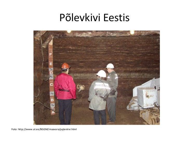 Põlevkivi EestisFoto: http://www.ut.ee/BGGM/maavara/pqlevkivi.html