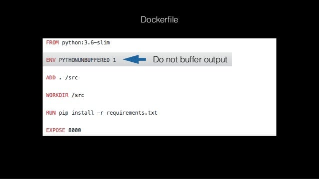 Install requirements Dockerfile