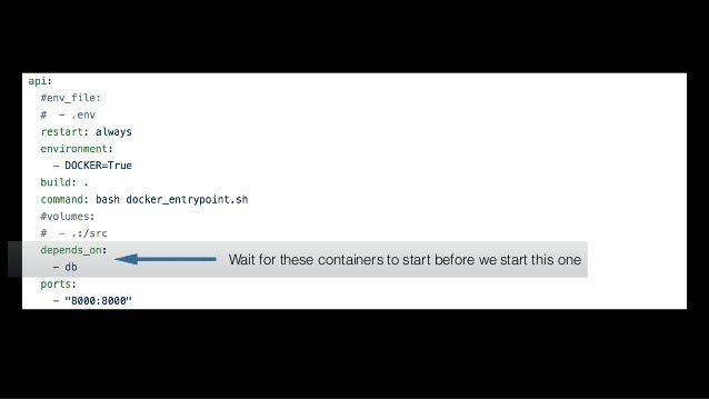 docker-compose exec Execute commands on running containers