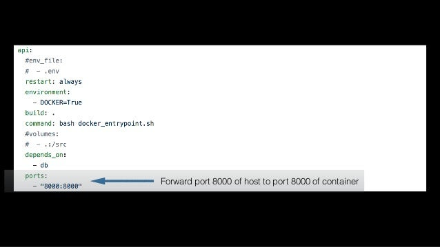 docker-compose run Execute a single command in a ONE OFF container