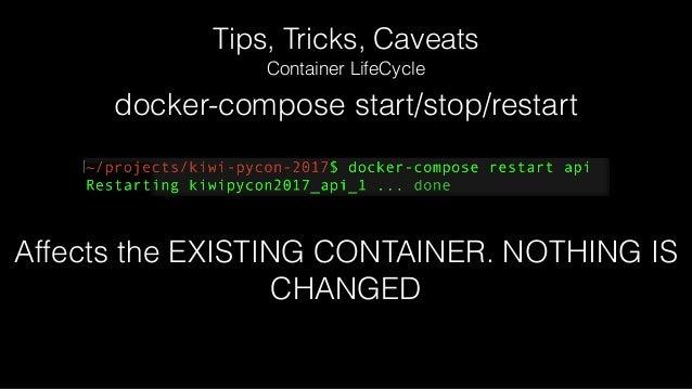 Tips, Tricks, Caveats Application Configuration (Environment Variables)