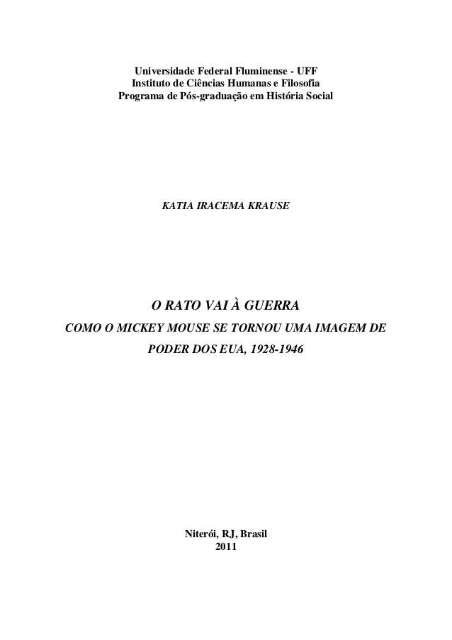Universidade Federal Fluminense - UFF Instituto de Ciências Humanas e Filosofia Programa de Pós-graduação em História Soci...