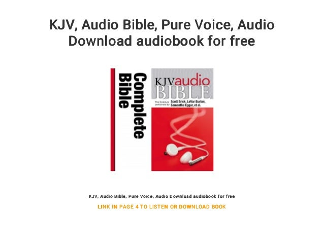 KJV Audio Bible Pure Voice Download Audiobook For Free