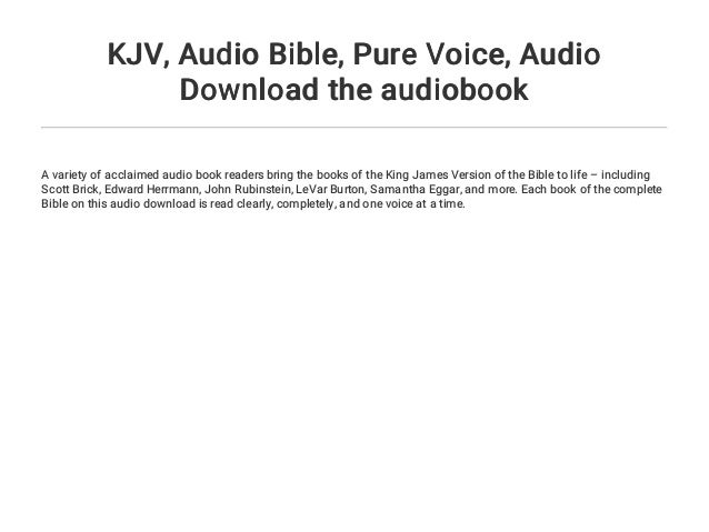 KJV    Audio Bible    Pure Voice    Audio Download the audiobook