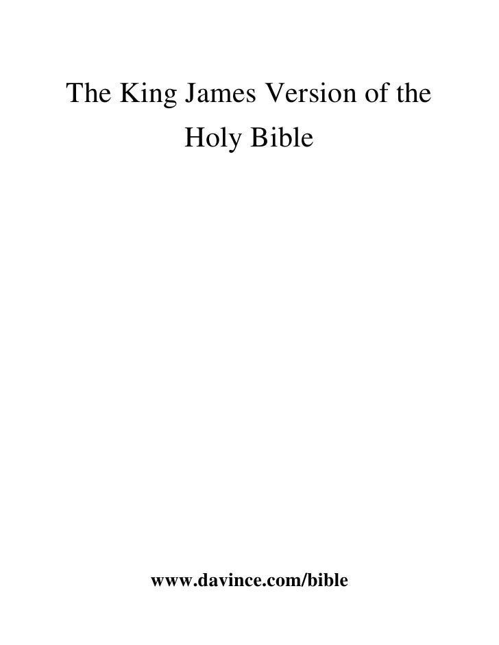 The King James Holy Bible