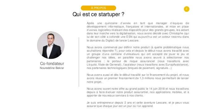 #PortraitDeStartuper #33 - Leocare - Noureddine Bekrar Slide 2