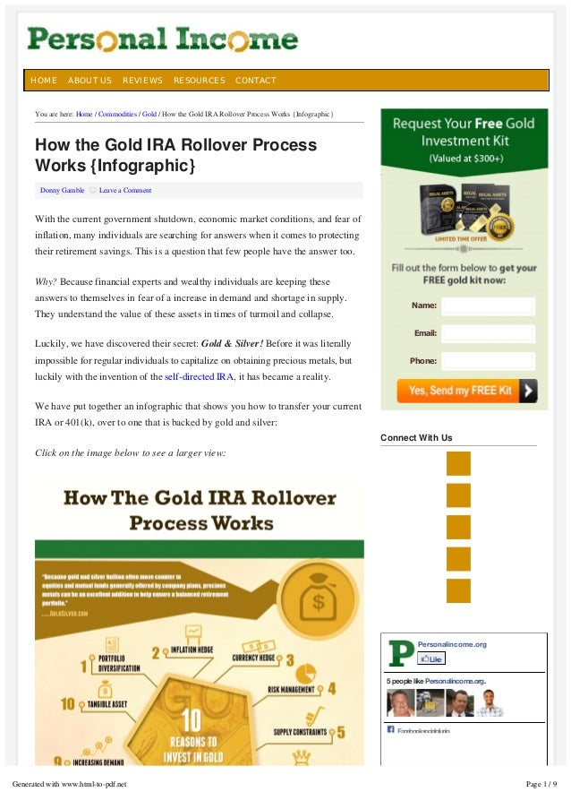 5  HOME  ABOUT US  REVIEWS  RESOURCES  CONTACT  You are here: Home / Commodities / Gold / How the Gold IRA Rollover Proces...