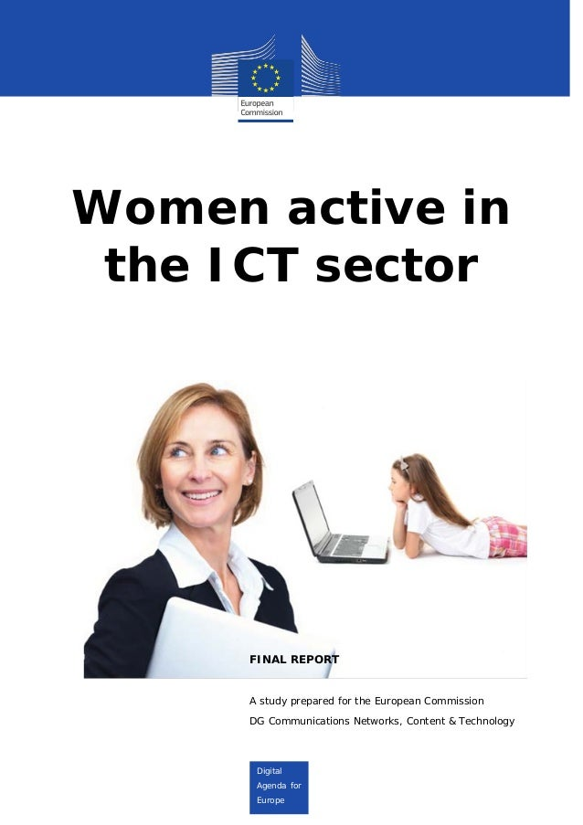 Digital Agenda for Europe Digital Agenda for Digital Agenda for Digital Agenda for Europe Women active in the ICT sector F...