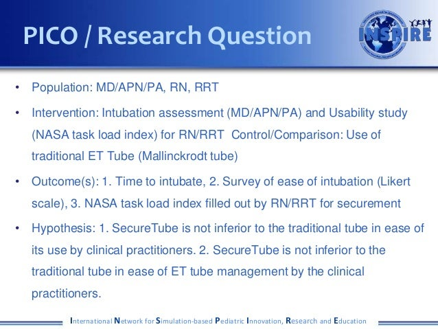 • Population: MD/APN/PA, RN, RRT • Intervention: Intubation assessment (MD/APN/PA) and Usability study (NASA task load ind...